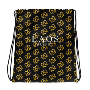 3-Ring All-Over Drawstring bag