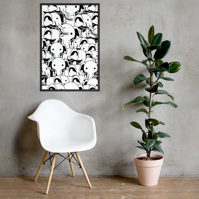 Elephant Pattern Framed poster