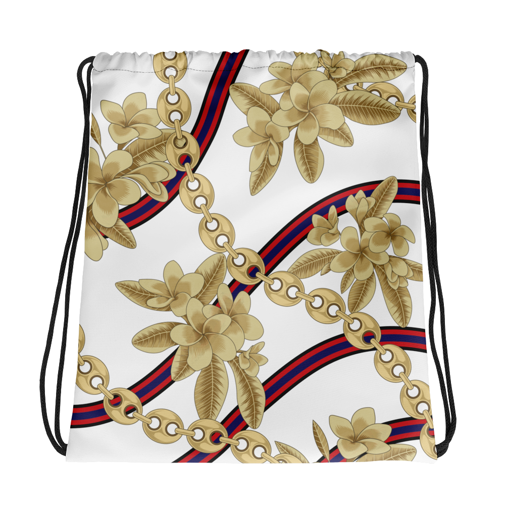 Dok Champa Chain All-Over Drawstring bag