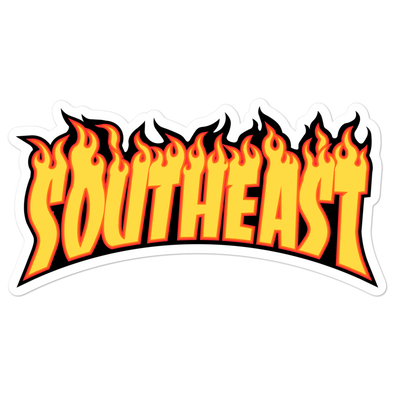 Southeast Flames Bubble-free stickers