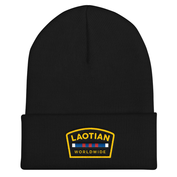 Laotian Worldwide Veteran Cuffed Beanie