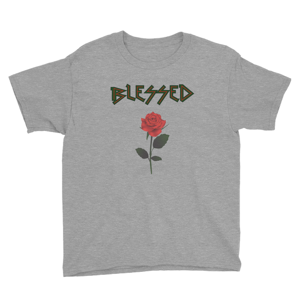 Blessed Rose Zigzag Youth Kids T-Shirt