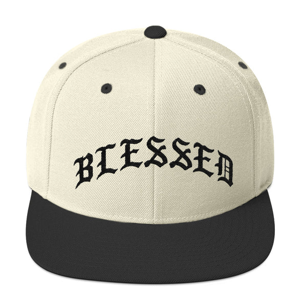 Blessed Old English Snapback Hat