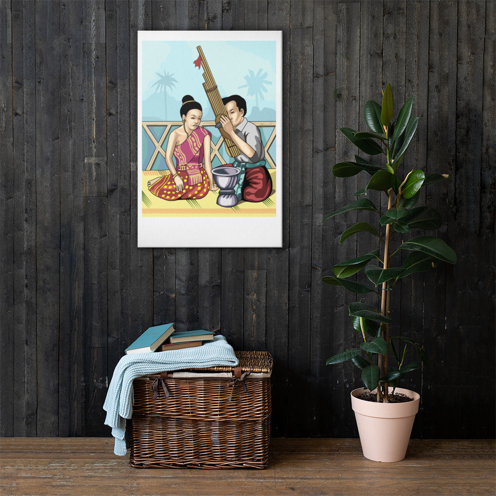Lao Music Culture Canvas