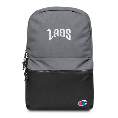 Laos Script 2 Embroidered Champion Backpack
