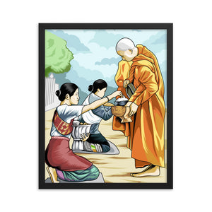 Alms Giving Framed poster