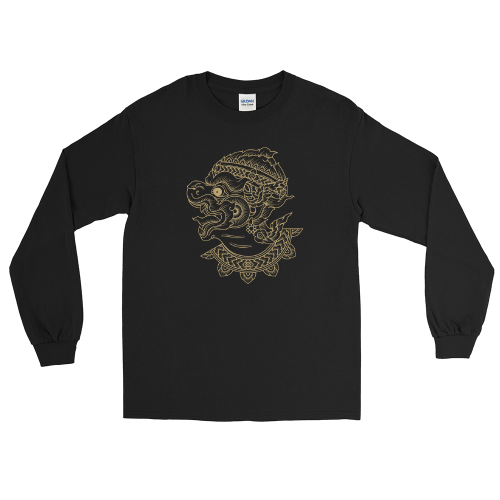 Hanuman Tattoo Long Sleeve T-Shirt By Fusay (Addiction Tattoo)
