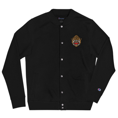 Warrior King Embroidered Champion Bomber Jacket