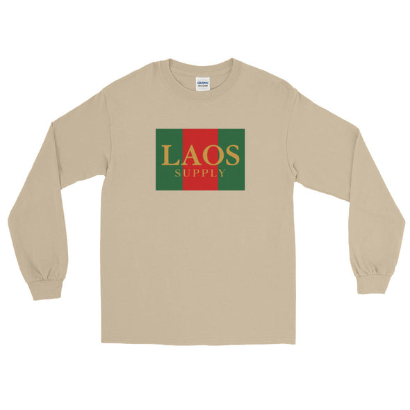 Laos Red Green Box Long Sleeve T-Shirt