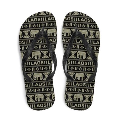 Elephant All-Over Flip-Flops