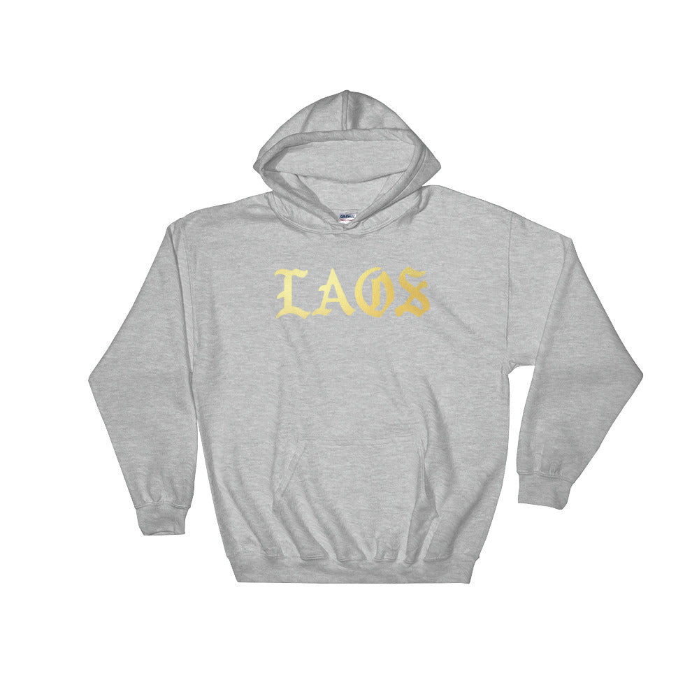 Laos Old English Logo Hoodie