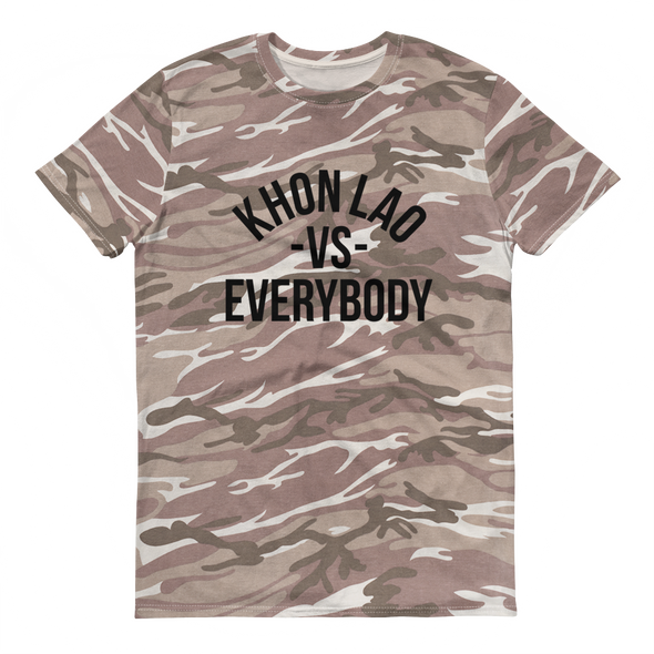 Khon Lao vs Everybody camouflage t-shirt
