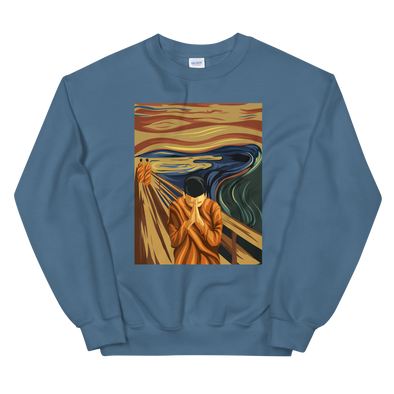 Monk Pray Paint Sweatshirt