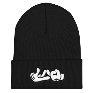 Lao Hand Sign Cuffed Beanie
