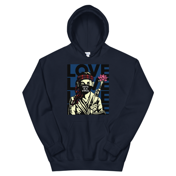 Hate Is A Virus Soldier Hoodie