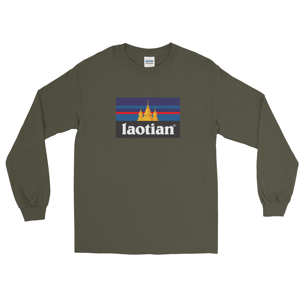 Laotian Temple Flag Long Sleeve T-Shirt