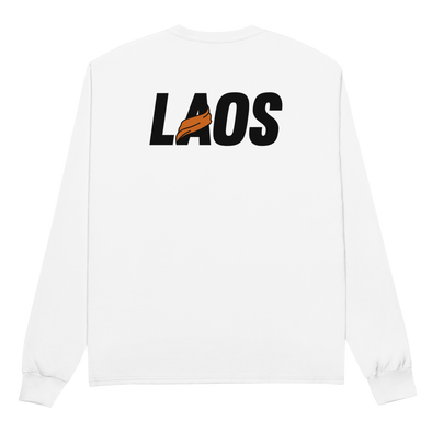 Laos Sash Logo Champion Long Sleeve Shirt