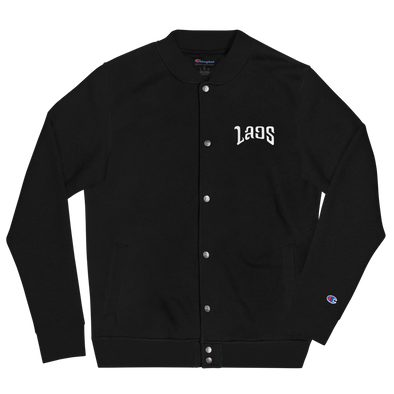 Laos Script Embroidered Champion Bomber Jacket