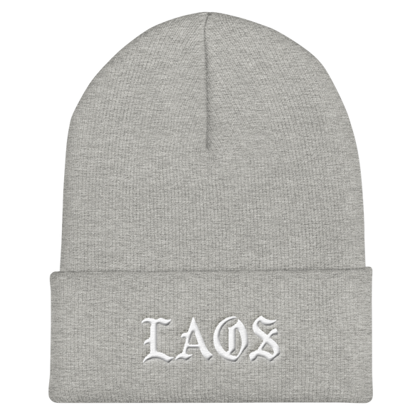 Laos Old English Cuffed Beanie
