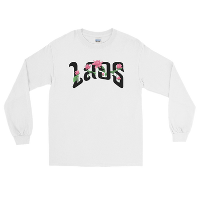 Laos Script Lotus Men's Long Sleeve Shirt