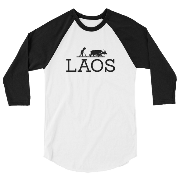 Laos Water Buffalo 3/4 sleeve raglan shirt