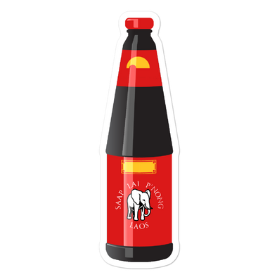 Oyster Sauce Bottle Bubble-free stickers
