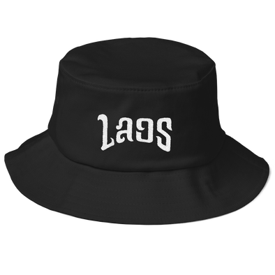 Laos Script Old School Bucket Hat