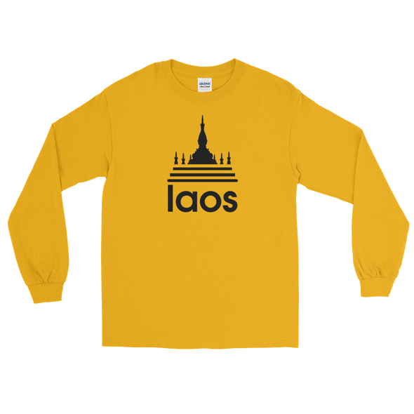 Laos Temple Stripes Long Sleeve T-Shirt