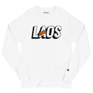 Laos Sash Clout Men's Champion Long Sleeve Shirt