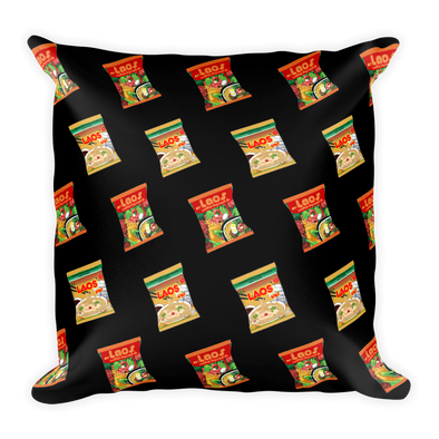 Laos Noodles All-Over Print Pillow Case w/ stuffing