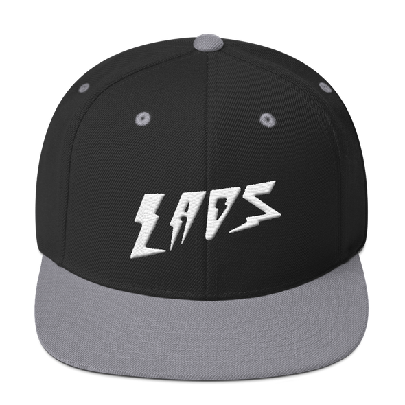 Laos Bolt Logo Snapback Hat (3D Puff Embroidery)