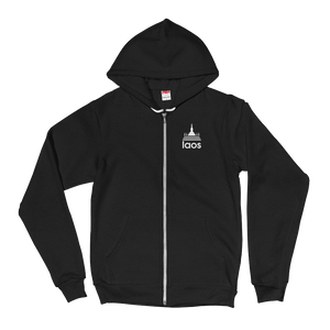Laos Temple Stripes Zip Up Hoodie