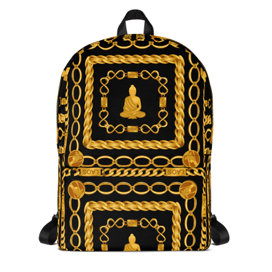 Gold Chain Buddha Backpack