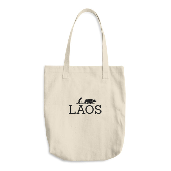 Laos Water Buffalo Cotton Tote Bag