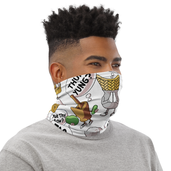 Lao Food Character Neck Gaiter