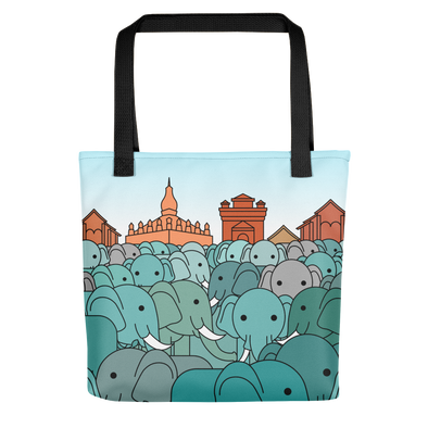 Million Elephants Tote bag