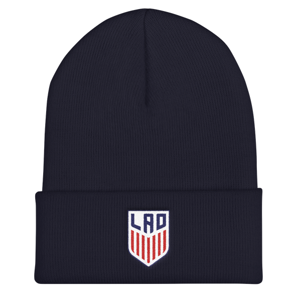 Lao Stripe Seal Cuffed Beanie
