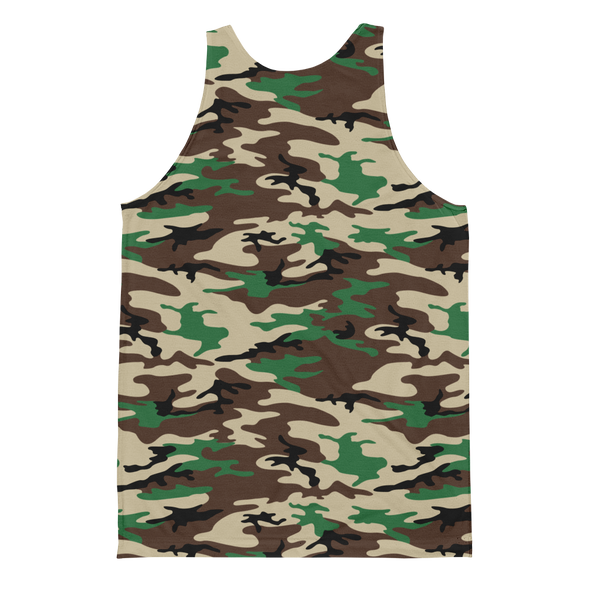 Laos Brown Camo All-Over Tank Top