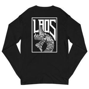 Naga Line Art Men's Champion Long Sleeve Shirt