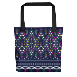 Lao Navy Traditional Textile Tote bag