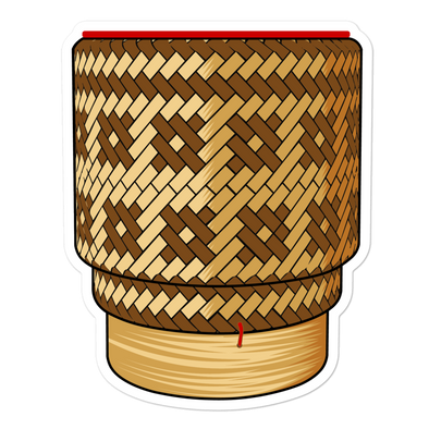 Thip Khao Sticky Rice Basket Bubble-free stickers