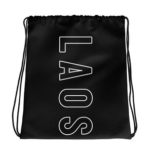 Laos Outline Vertical Drawstring bag