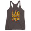 Laos By Popular Demand Women's Racerback Tank