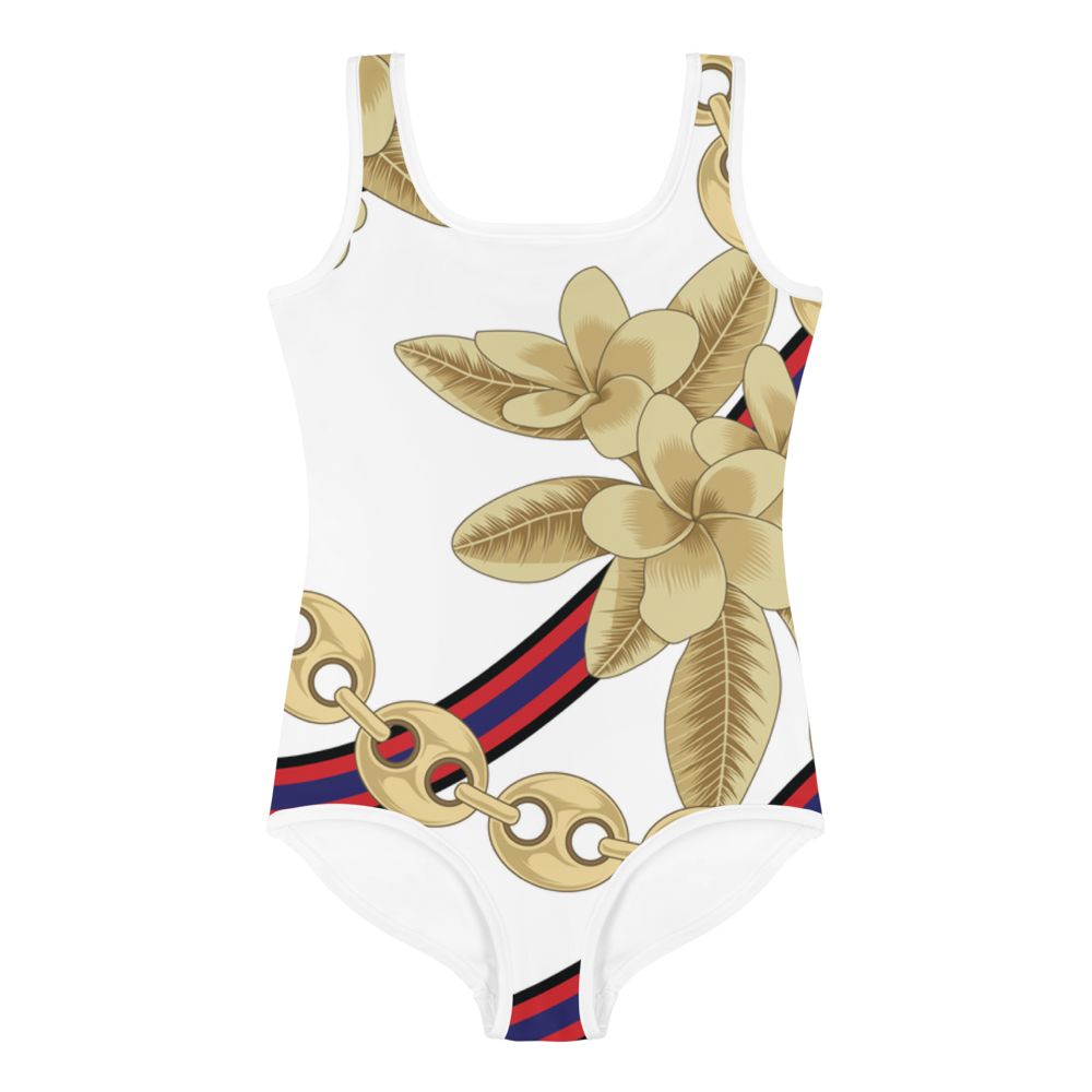 Dok Champa Chain All-Over Print Kids Swimsuit
