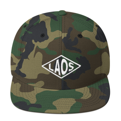 Laos Diamond Snapback Hat