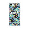 Laos Teal Camo iPhone Case