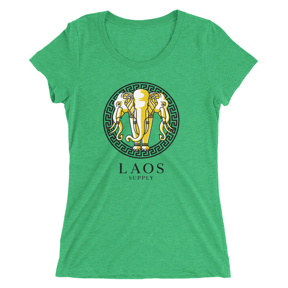 Golden Elephant Two Tone Ladies t-shirt