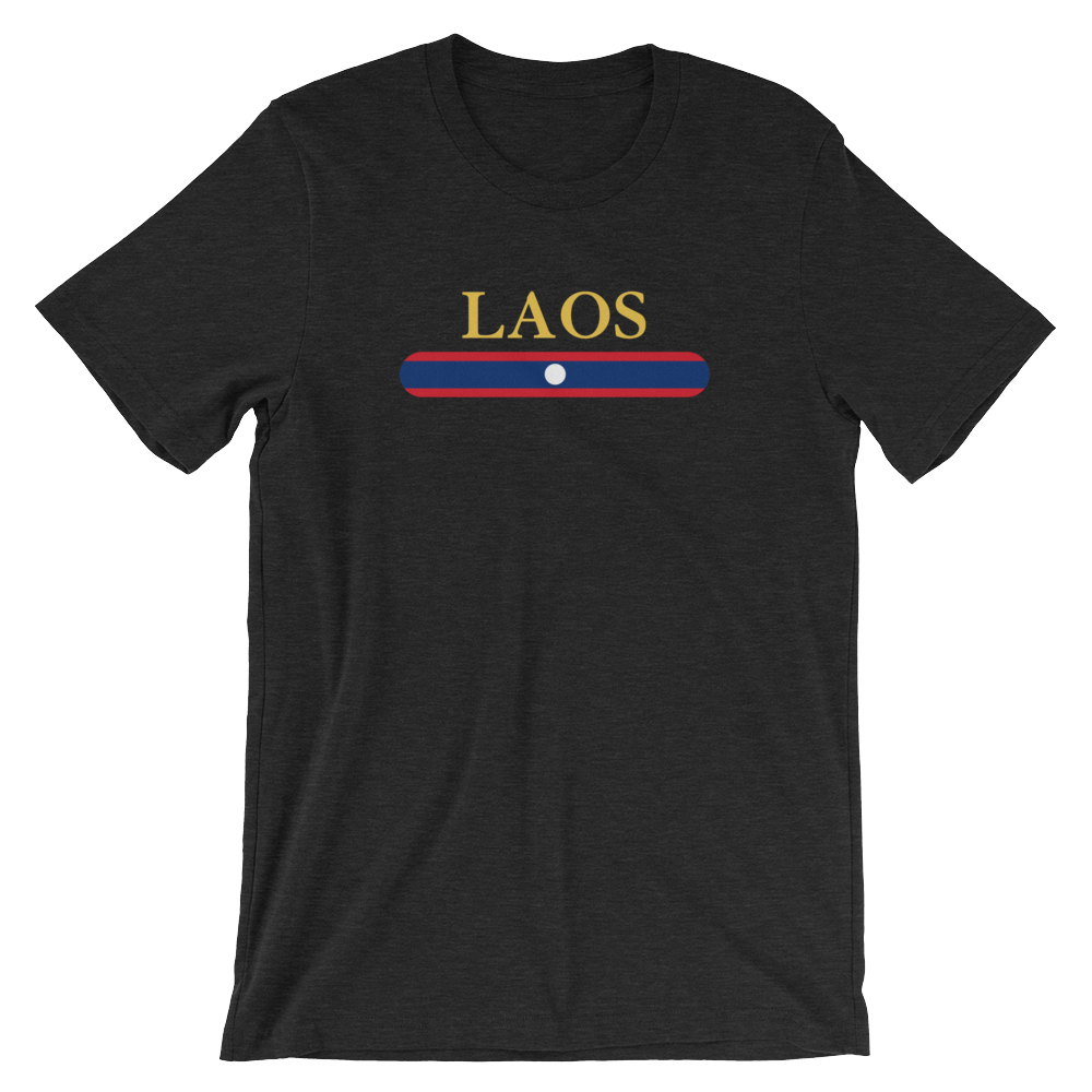 Laos Flag Stripes T-Shirt