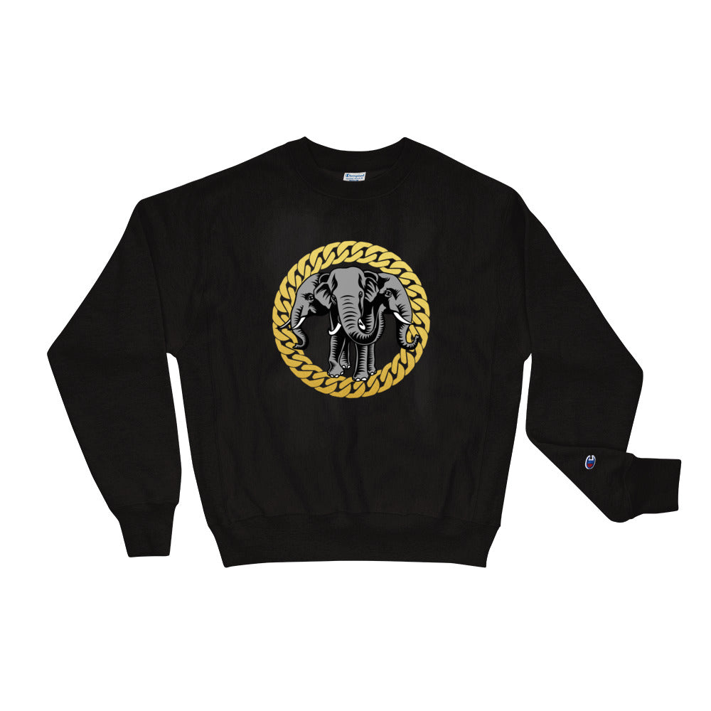 Elephant Gold Chain Champion Sweatshirt
