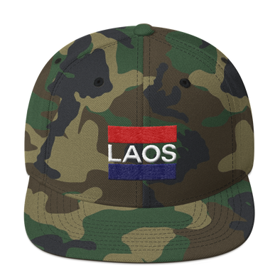 Laos Double Bar Snapback Hat